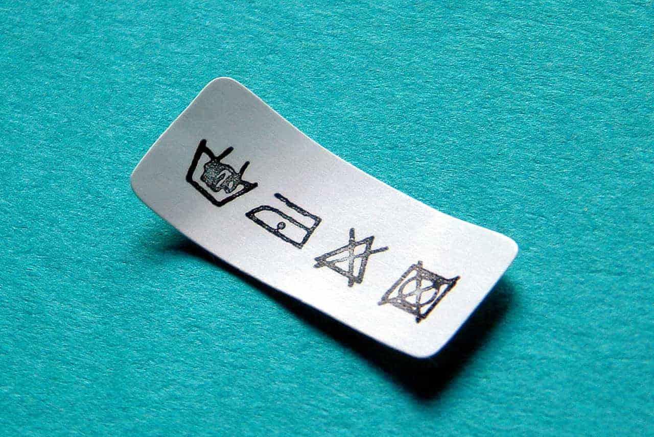 significado simbolos etiquetas de la ropa